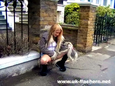 Blonde voyeur babe kaz b masturbating in public and flashing 10